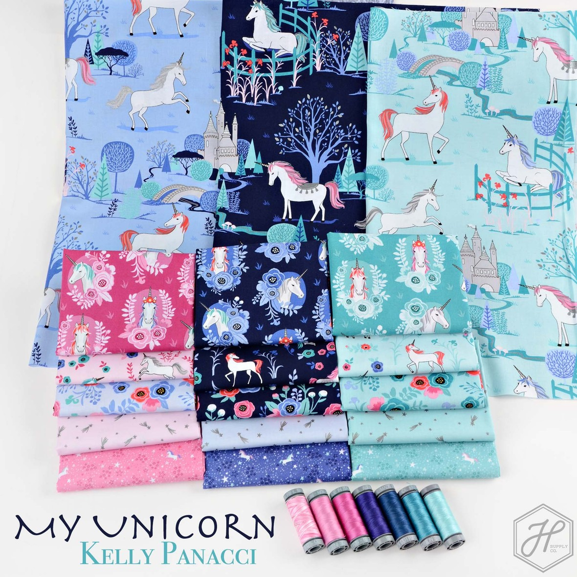 My Unicorn Fabric Riley Blake at Hawthorne Supply Co