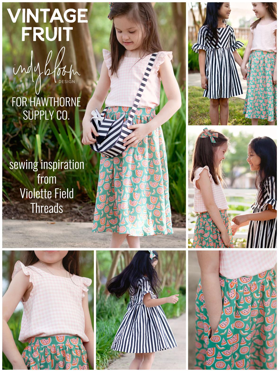 Vintage Fruit Rayon Violette Field Threads Dresses