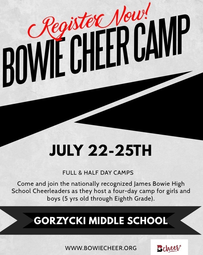 Bowie Cheer Summer Camp 2019