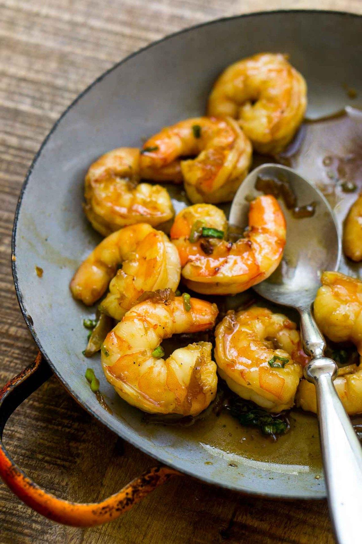 Coconut caramel shrimp recipe-12