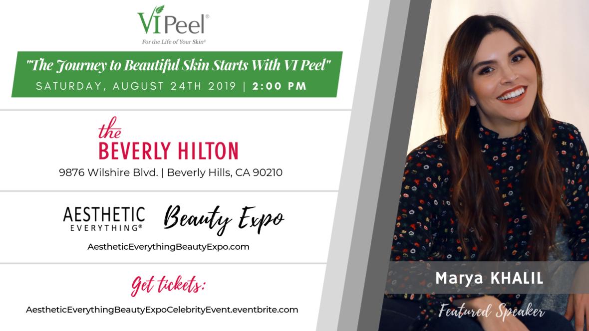 Marya Khalil VI Peel - Beauty Expo speaker