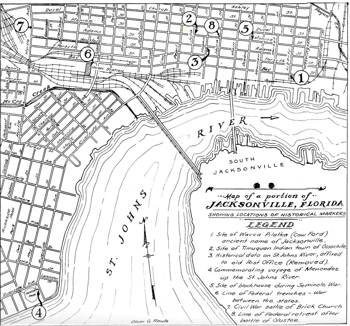 Historical markers map 1947 Papers