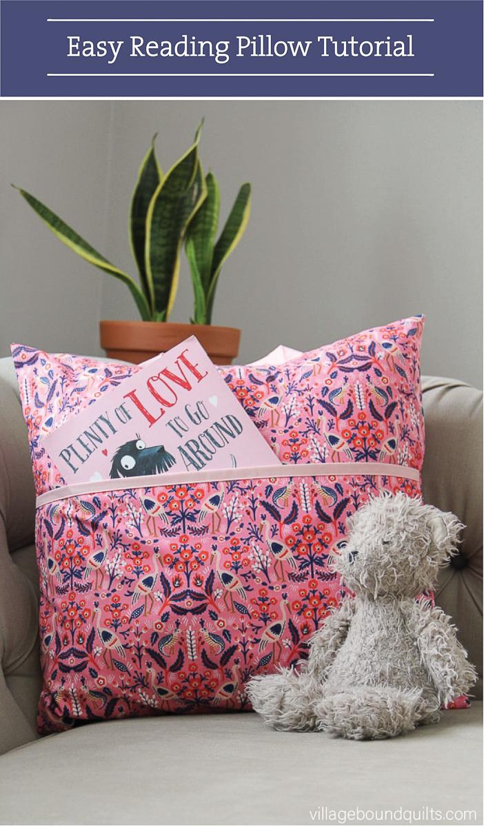 villageboundquilts- free reading pillow tutorial