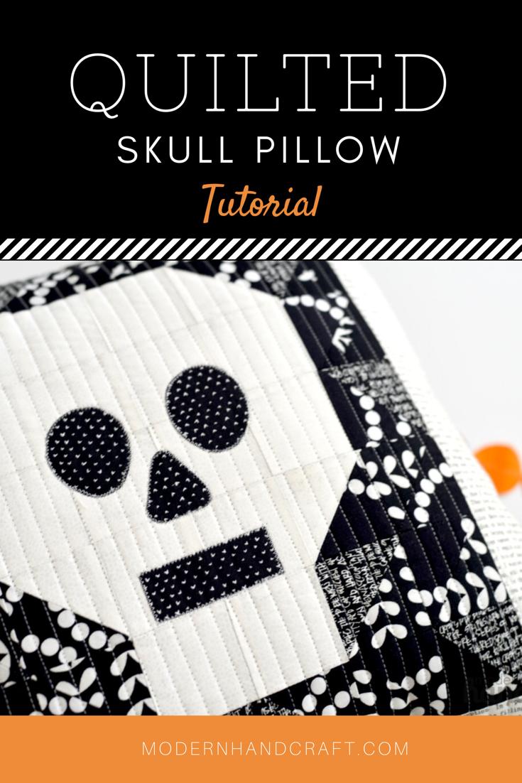 modernhandcraft- skull pillow tutorial