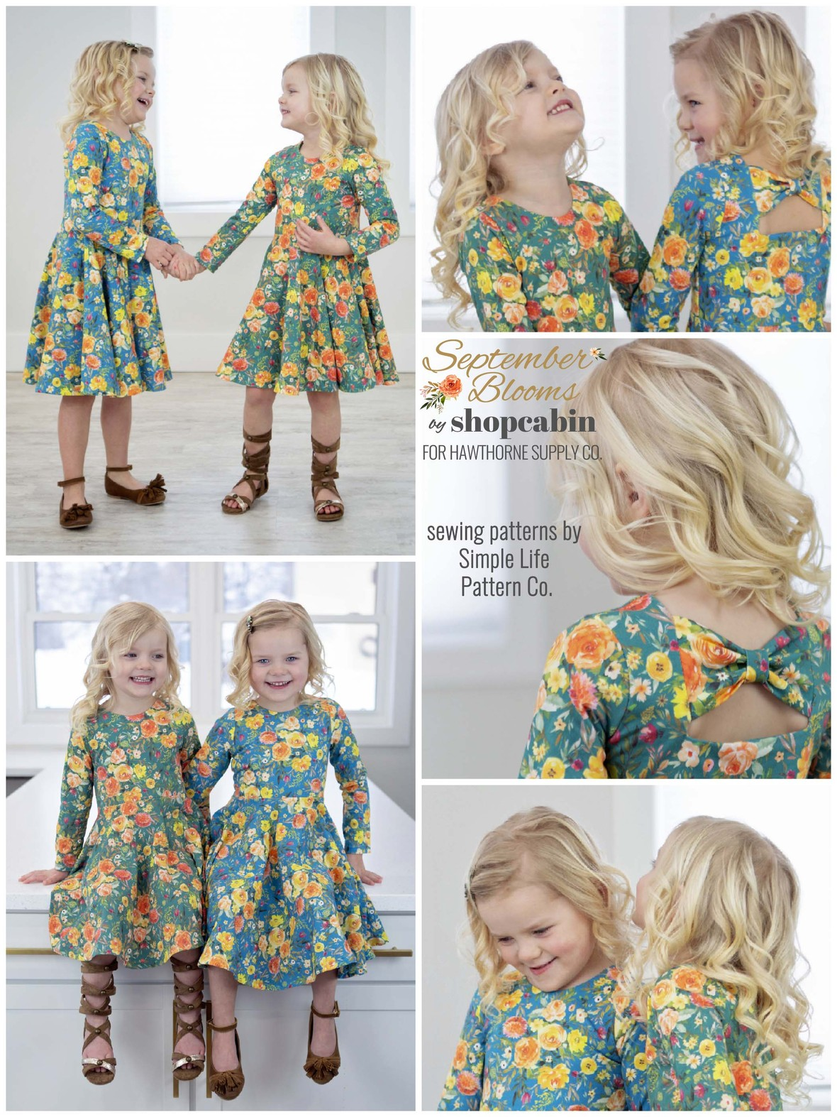 September Blooms Simple Lilfe Pattern Company and Hawthorne Supply Co