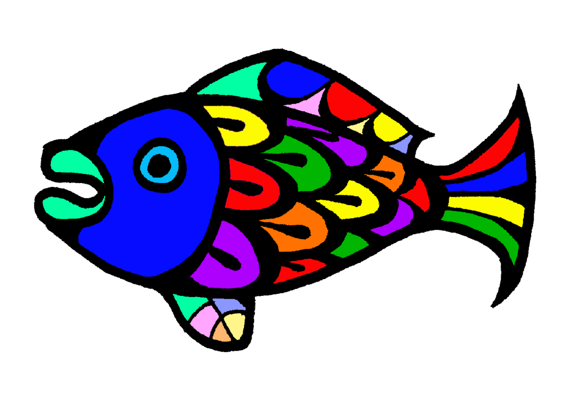 Icon5 Fish 01 BW Clip Art