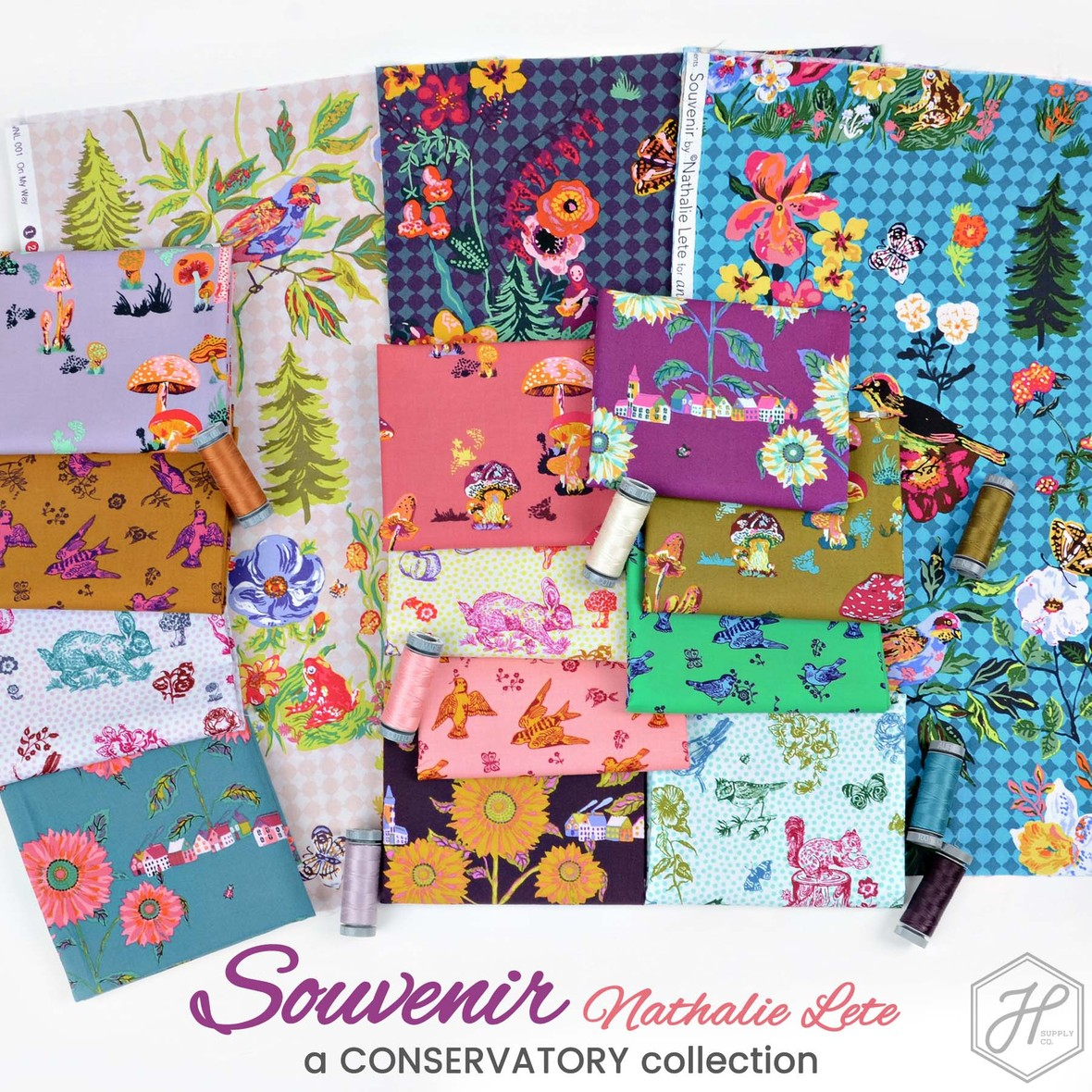 Souvenir Fabric Nathalie Lete for Conservatory at Hawthorne Supply Co