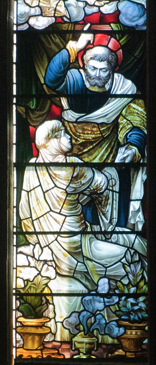 Dublin St. Patrick s Cathedral Ambulatory Southern Section Window Raising of Dorcas by Saint Peter 2012 09 26