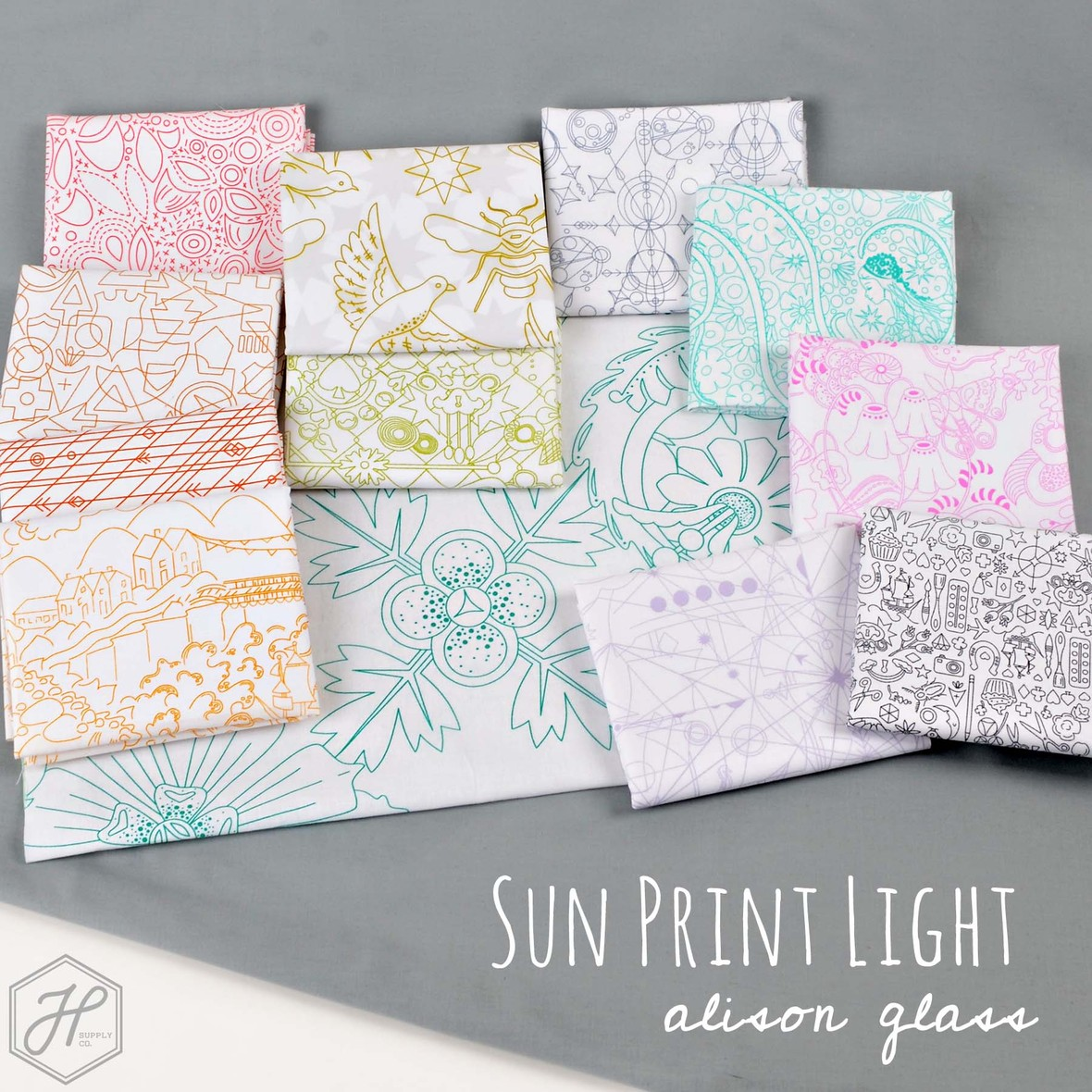 Sun Print Light Fabric Alison Glass for Andover at Hawthorne Supply Co