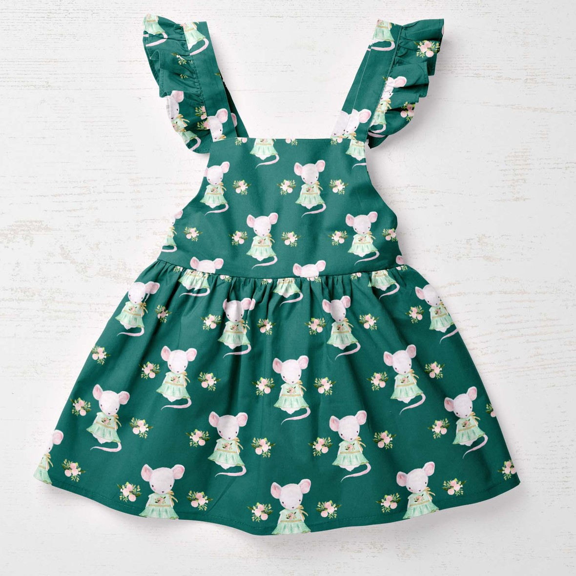 baby dress lila the mouse emerald big scale