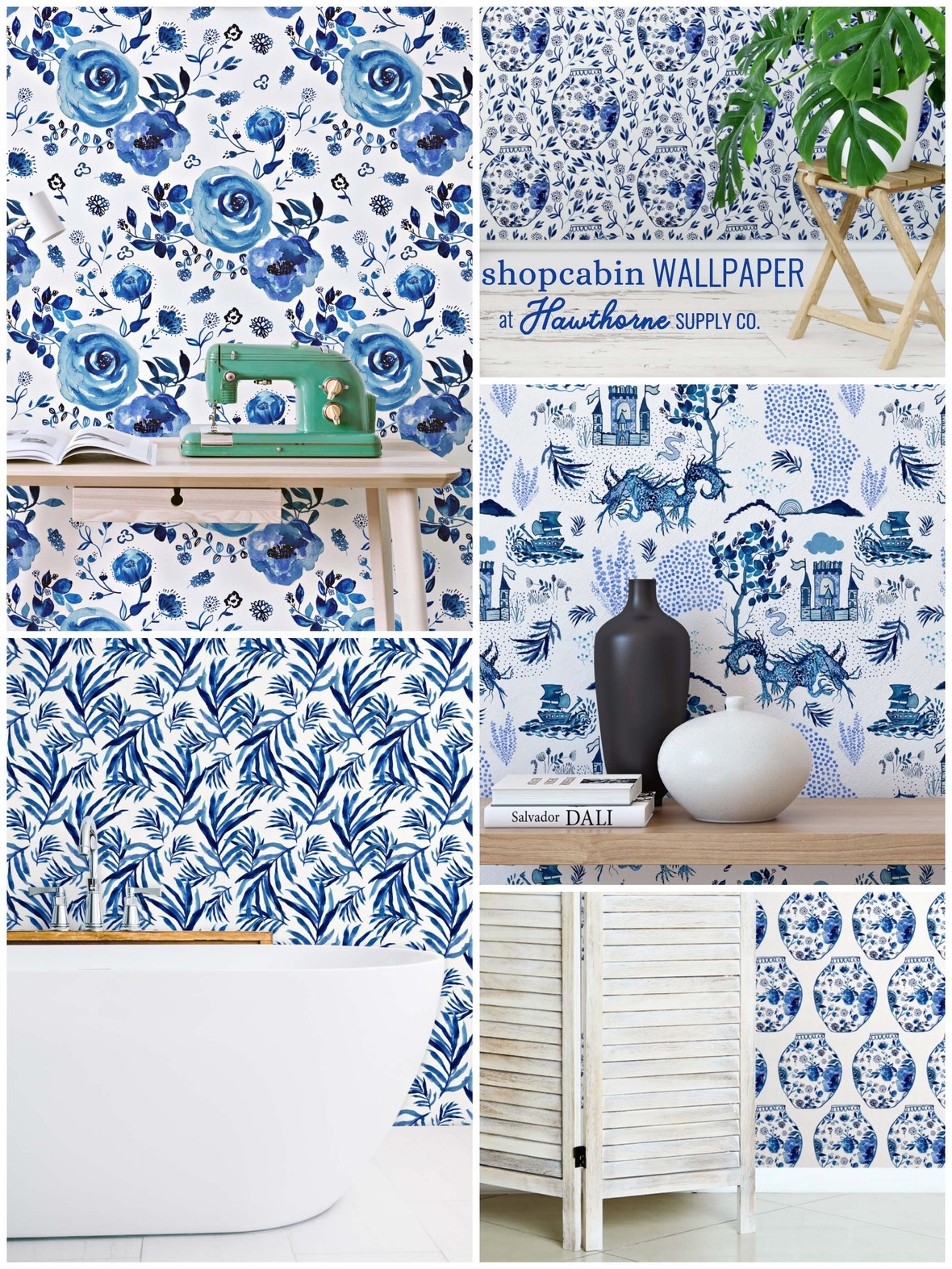 Chinoiserie Wallpaper Shopcabin at Hawthorne Supply Co