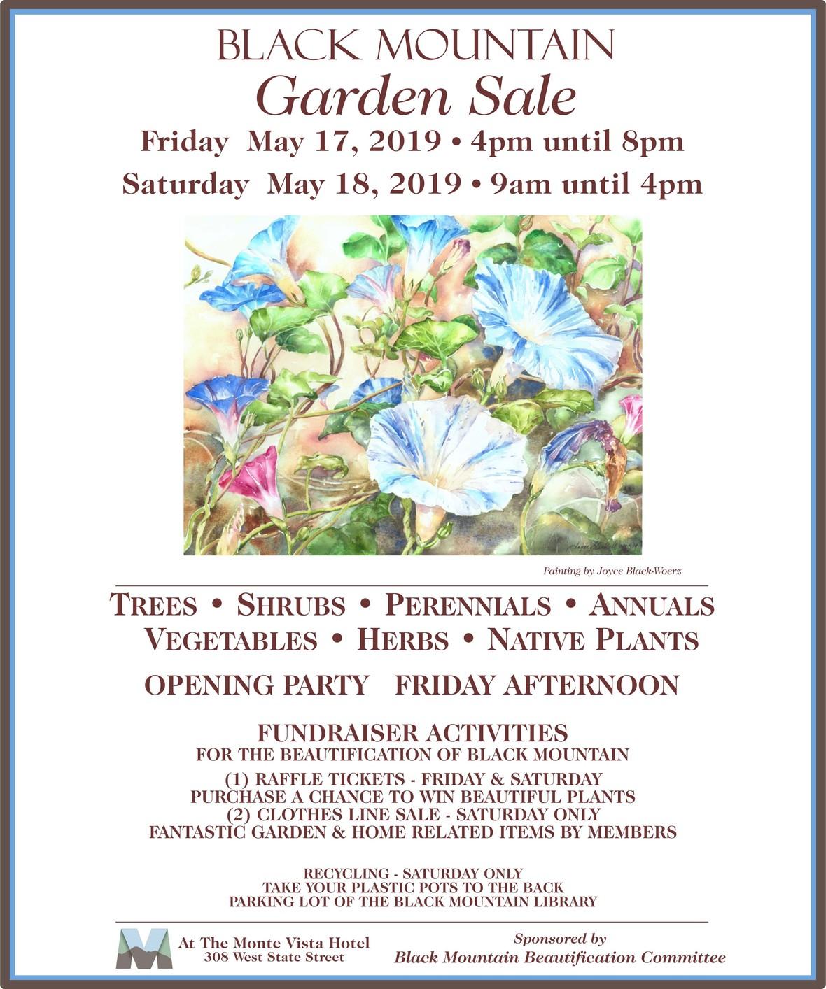 2019 Garden Sale Poster 11x13
