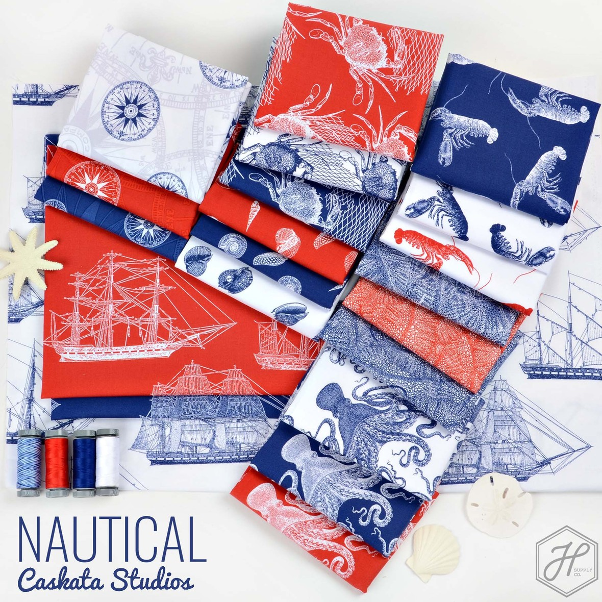 Nautical Fabric Poster Riley Blake at Hawthorne Supply Co