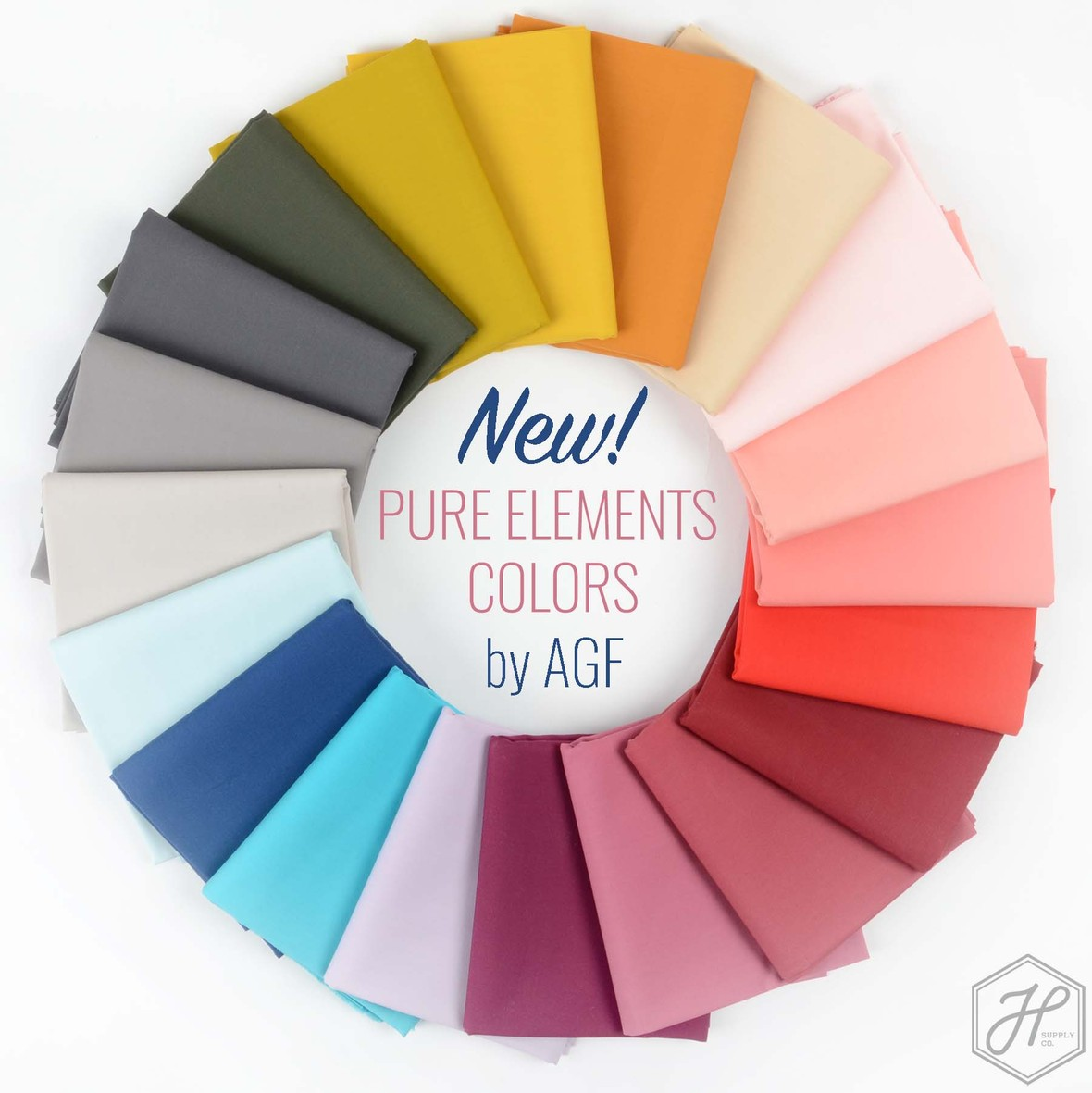 New Pure Elements Solids from Art Gallery Fabric at Hawthorne Supply Co