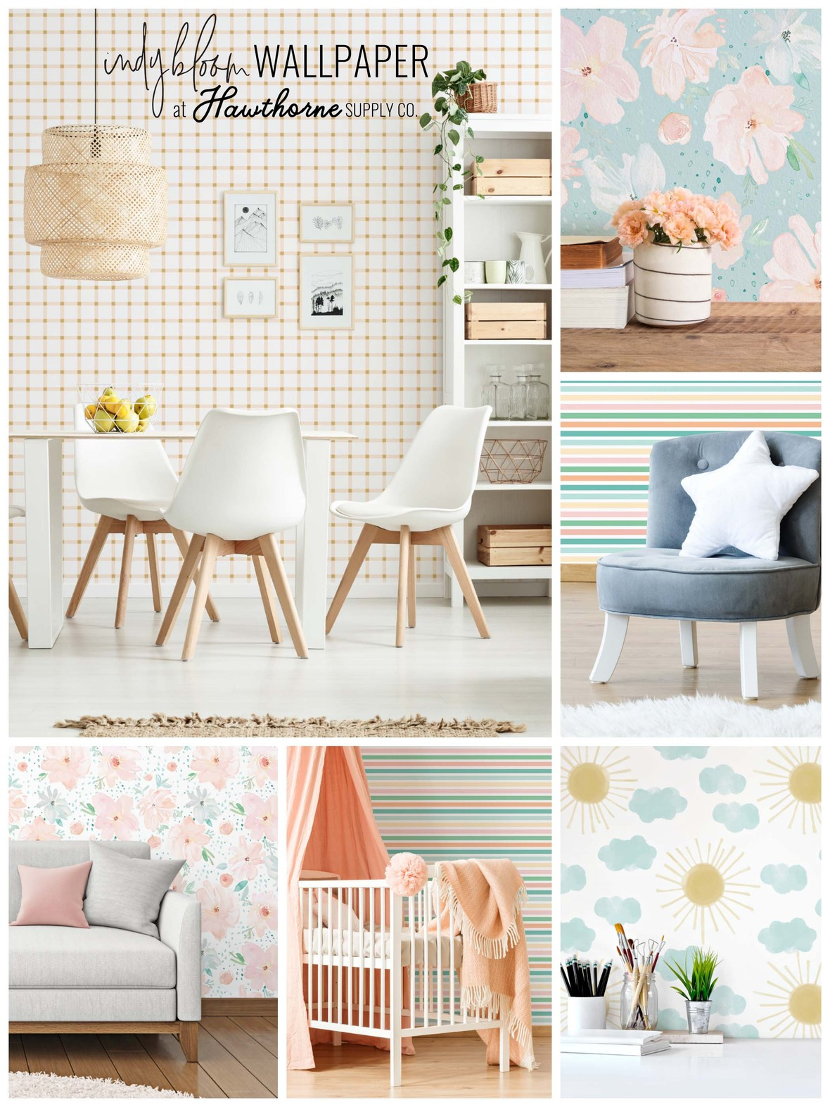 April Showers Wallpaper Indy Bloom at Hawthorne Supply Co