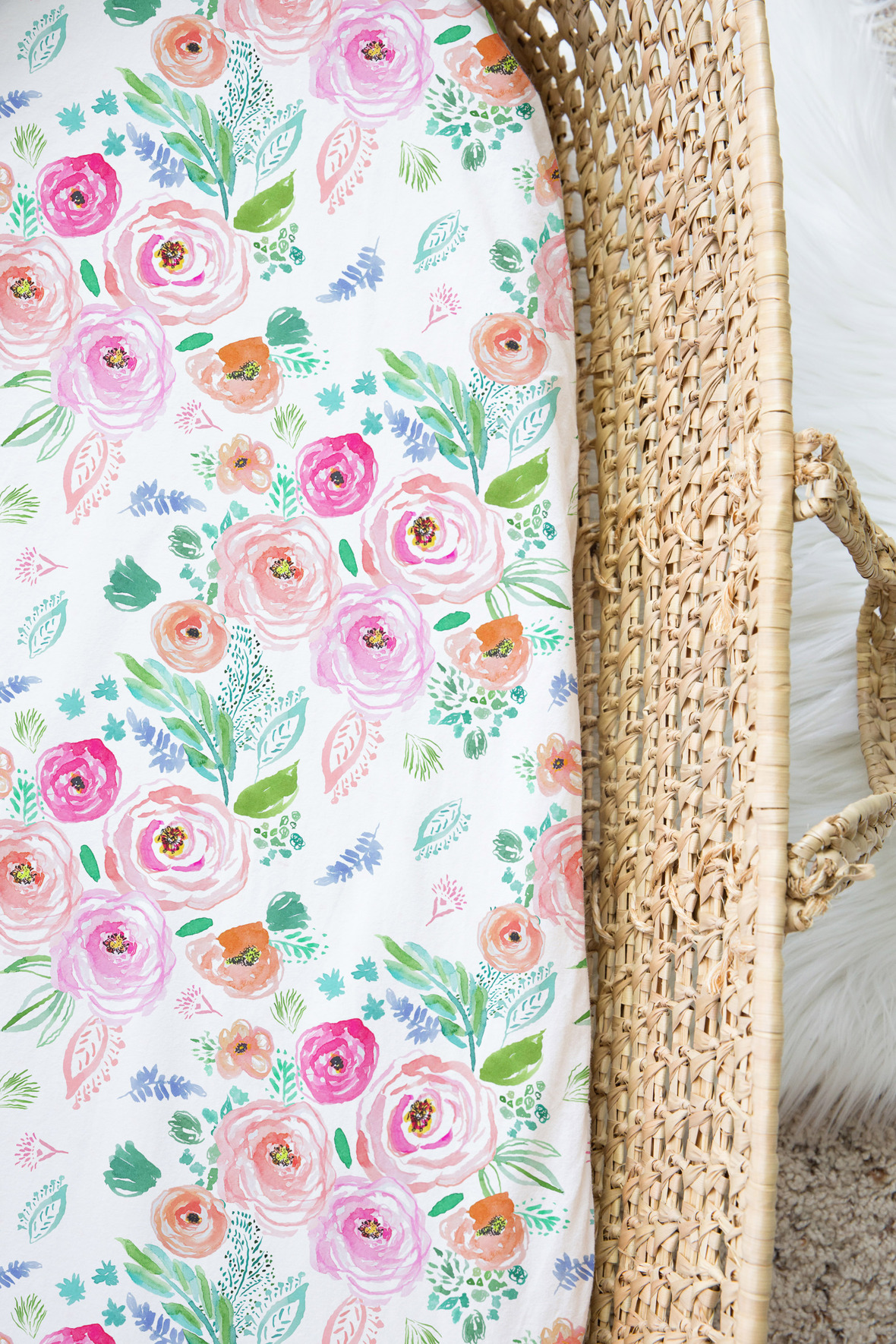 Moses Basket Big Paradise Florals in Tropical