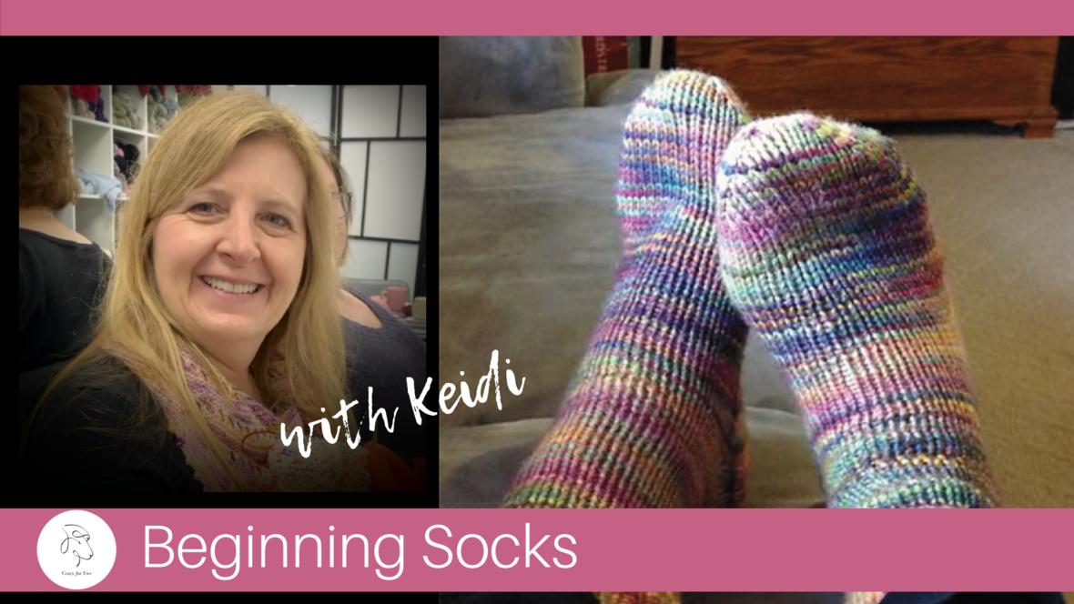 beginning socks keidi