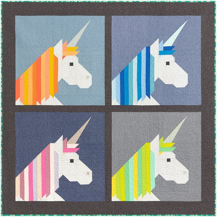 Lisa the Unicorn Lap Quilt