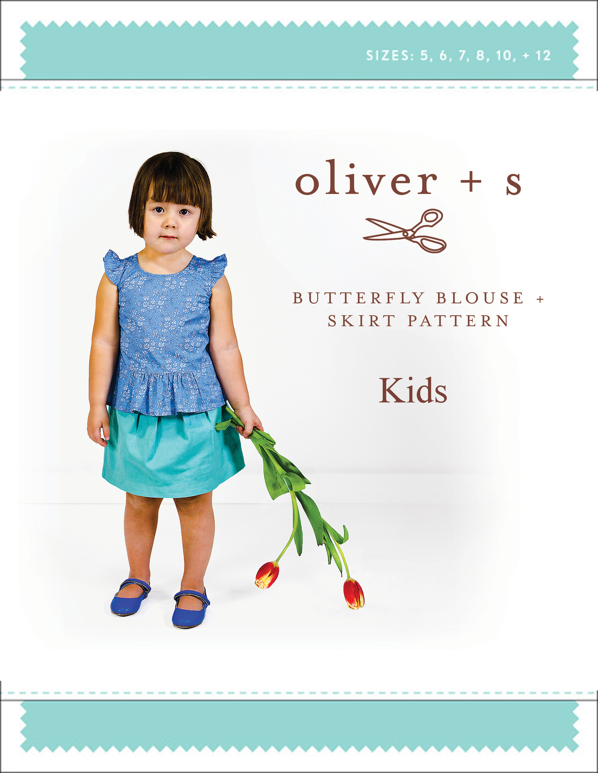 oliver and s  kids butterfly blouse and skirt sewing pattern