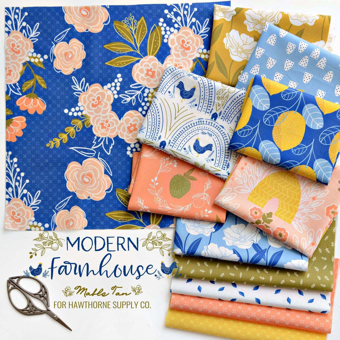 Mable Tan Modern Farmhouse Fabric at Hawthorne Supply Co b