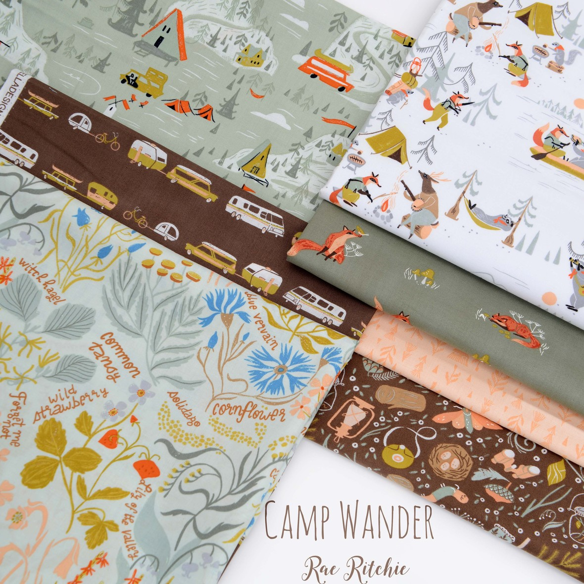 Camp Wander Fabric Poster