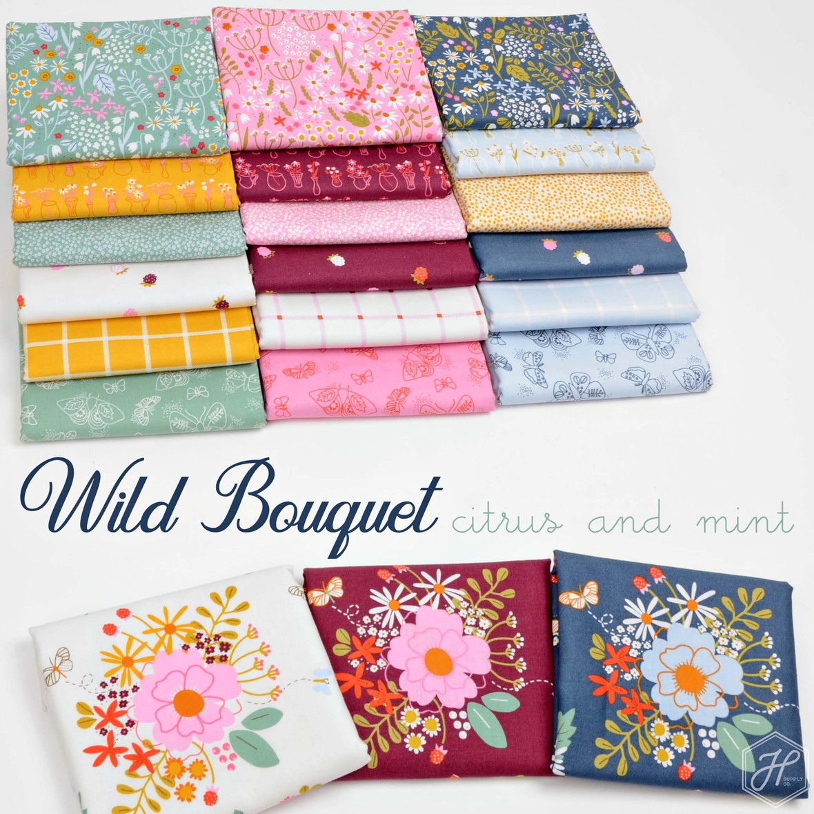 Wild Bouquet Fabric Poster