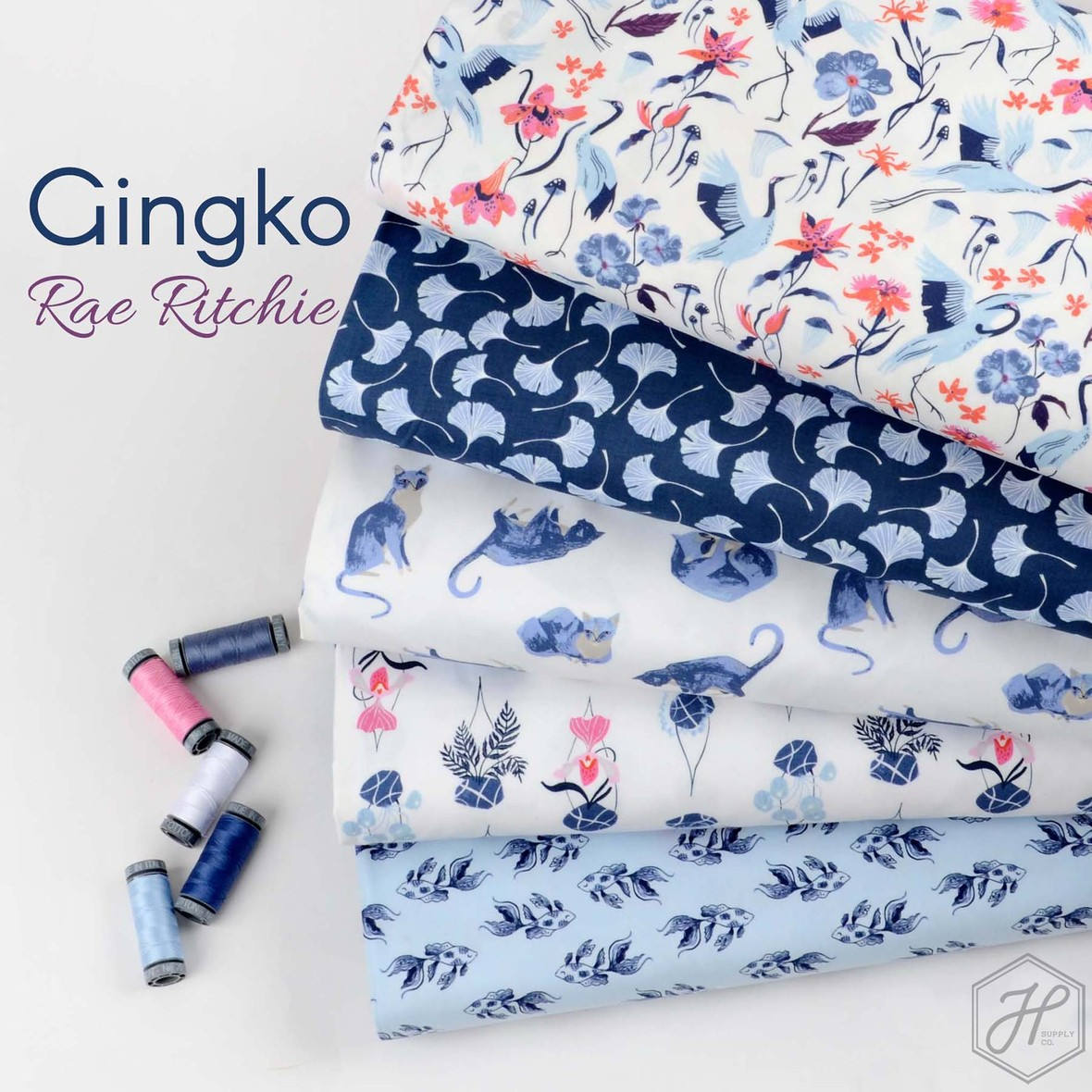 Gingko Fabric Poster Dear Stella at Hawthorne