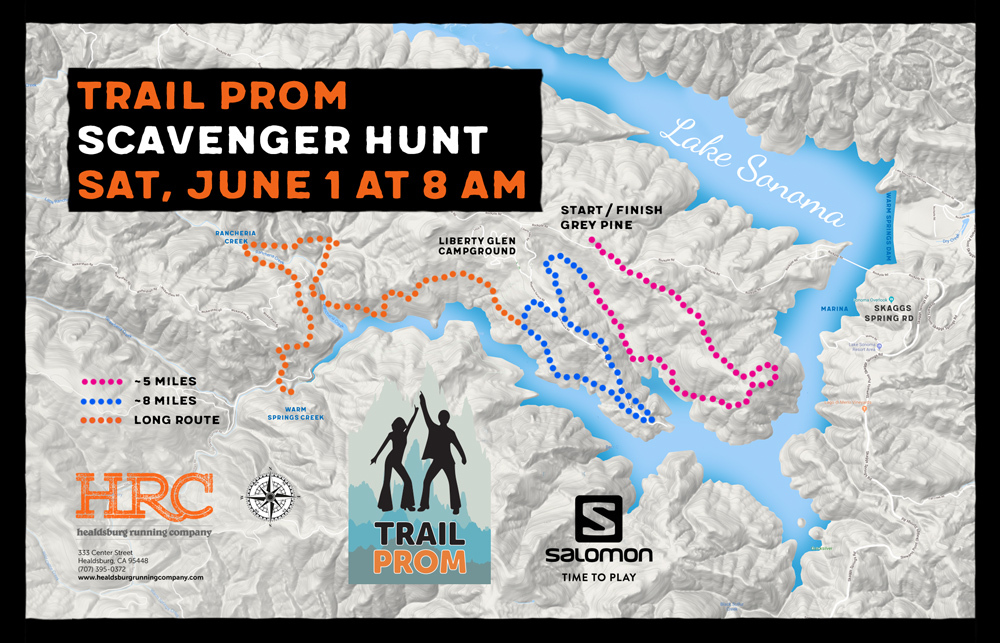 Lake sonoma trail prom map