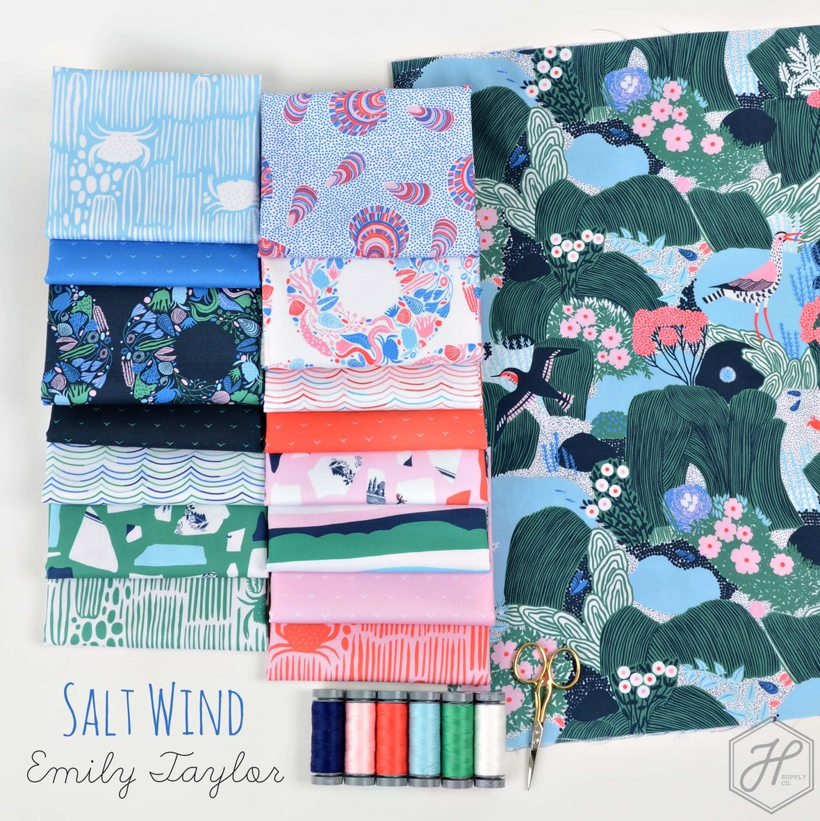 Salt Wind Fabric from Emily Taylor and Figo at Hawthorne Supply Co