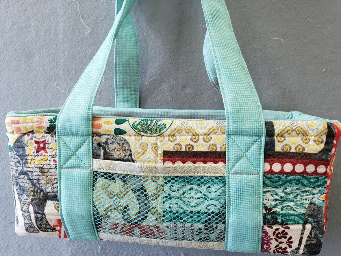 wire framed tote