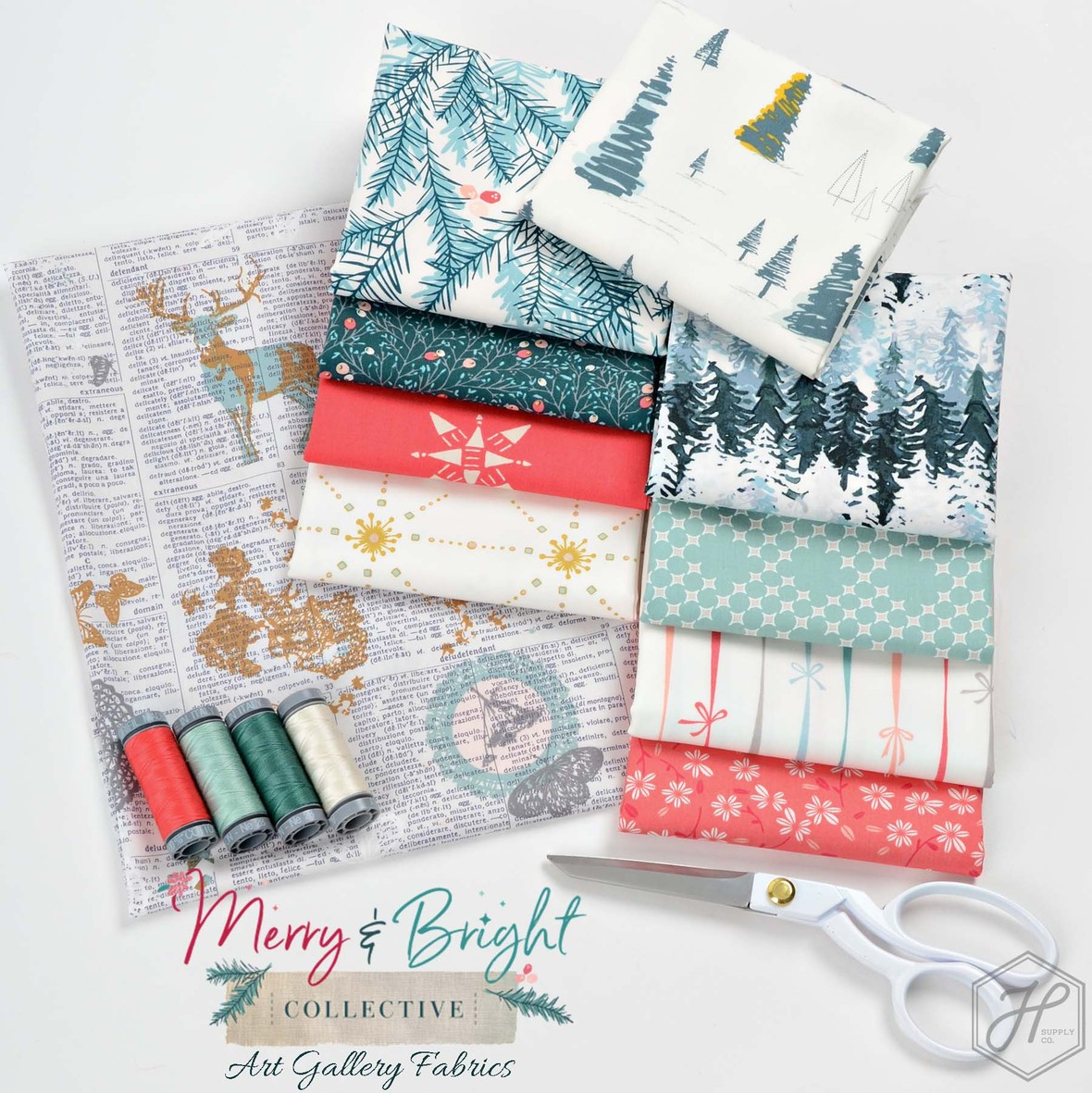 Merry and Bright Fabric Art Gallery at Hawthorne Supply Co