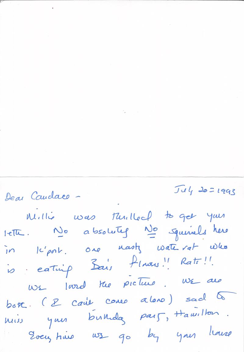 Bush Hamilton s Birthday 7 1993