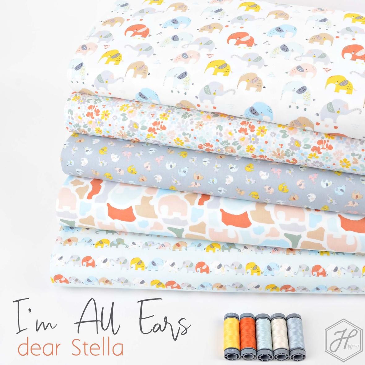 Im All Ears Elephant fabric Dear Stella at Hawthorne Supply Co