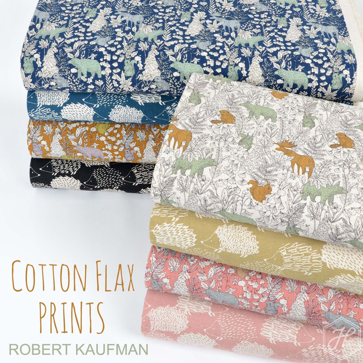 Cotton Flax Prints from Robert Kaufman at Hawthorne Supply Co