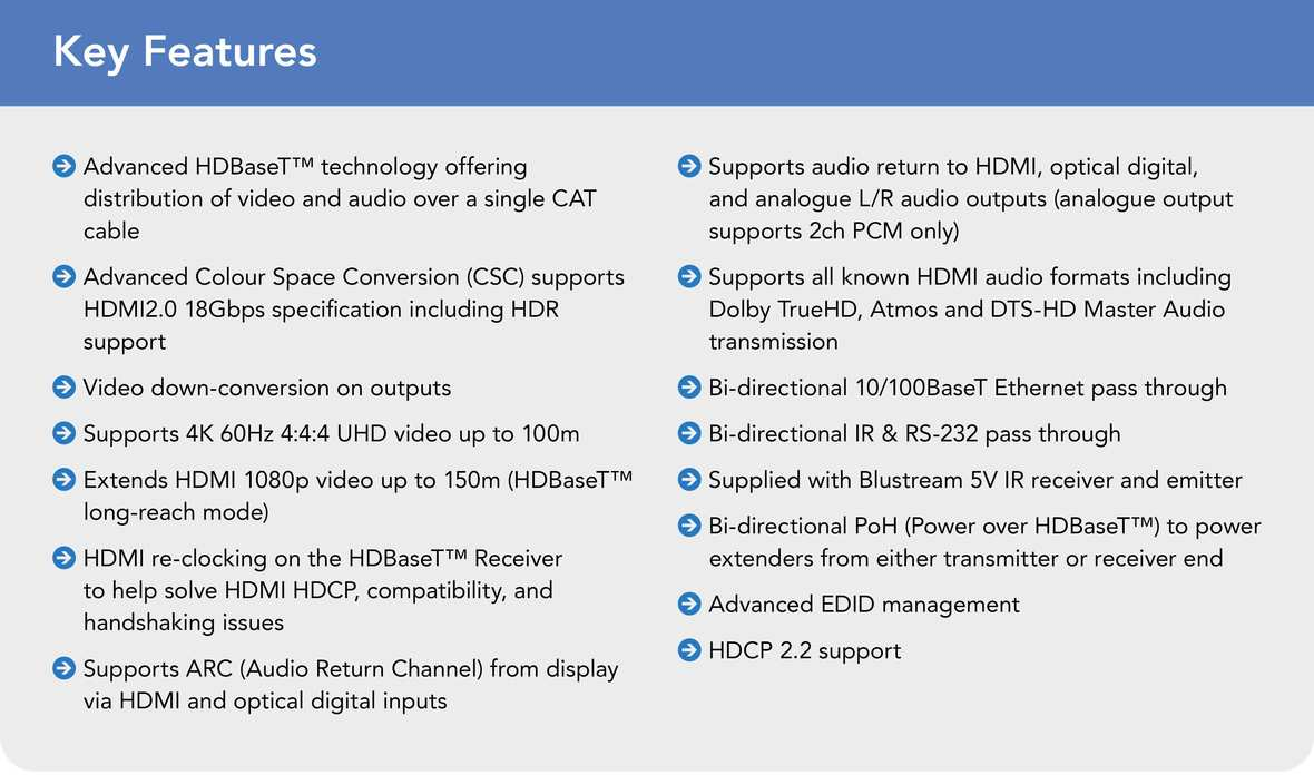 Key Features HEX150CS-KIT