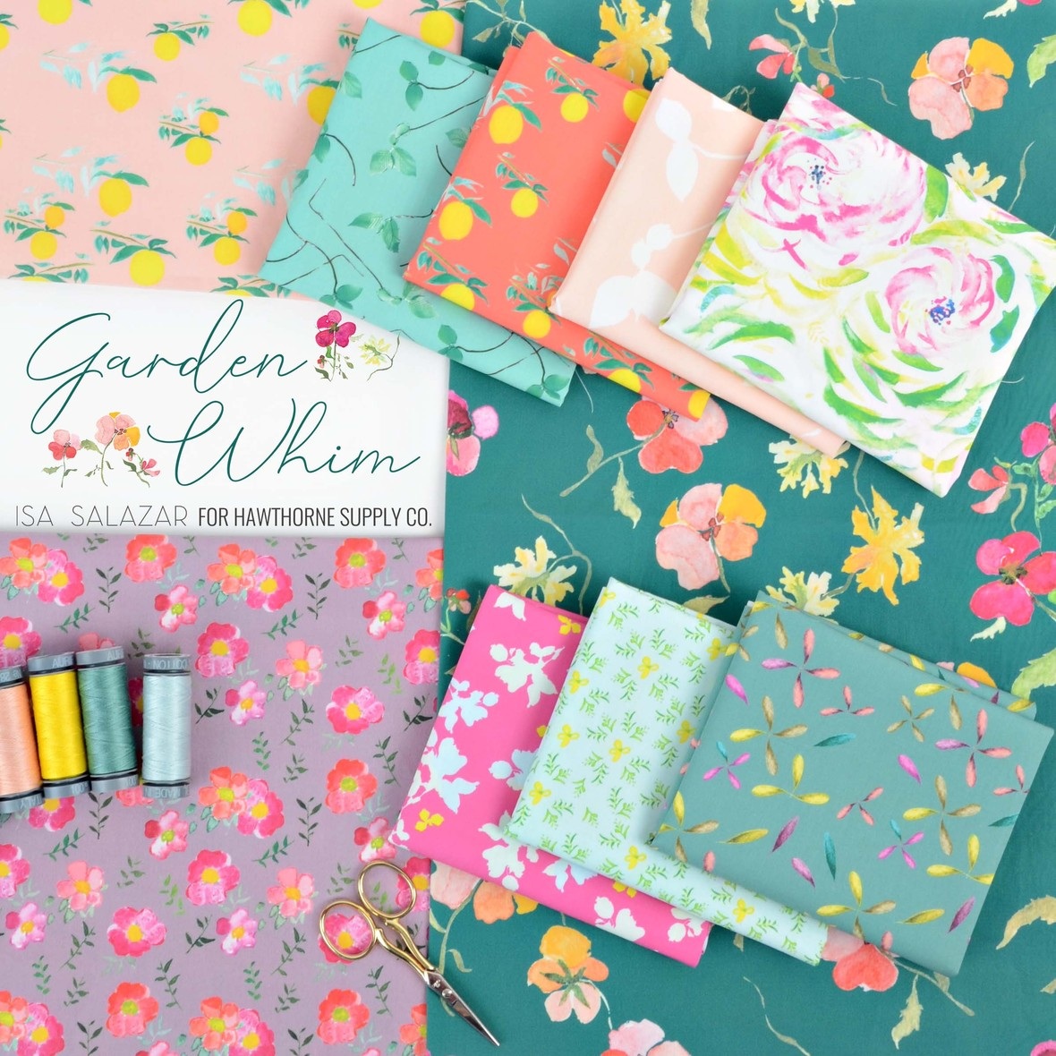 Isa Salazar Garden Whim Fabric at Hawthorne Supply Co