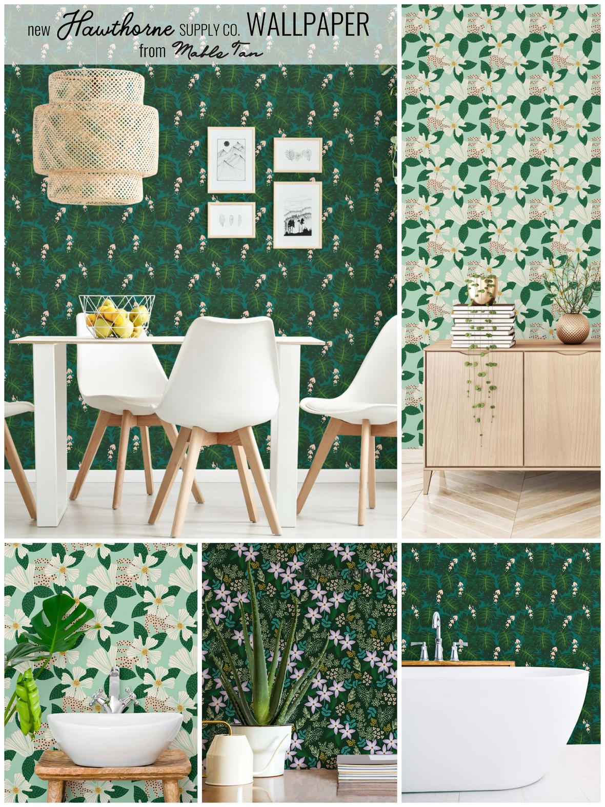Mable Tan Urban Jungle Wallpaper Hawthorne Supply Co