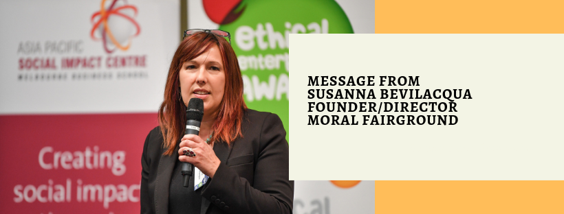 Message from susanna bevilacqua founder director moral fairground