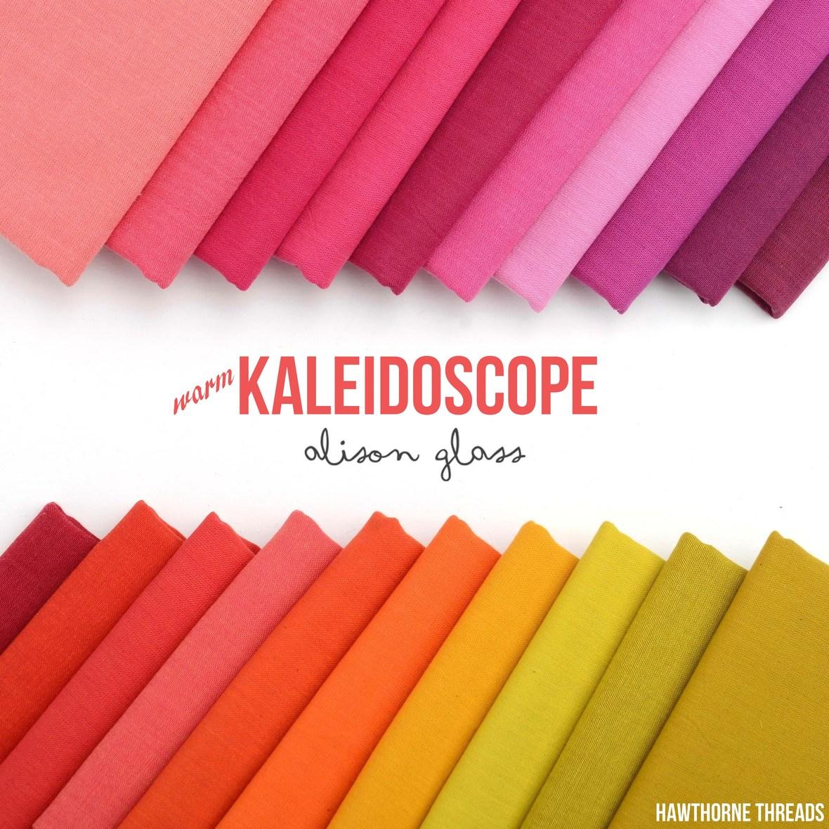 Kaleidoscope Warm Fabric Poster Alison Glass at Hawthorne Threads