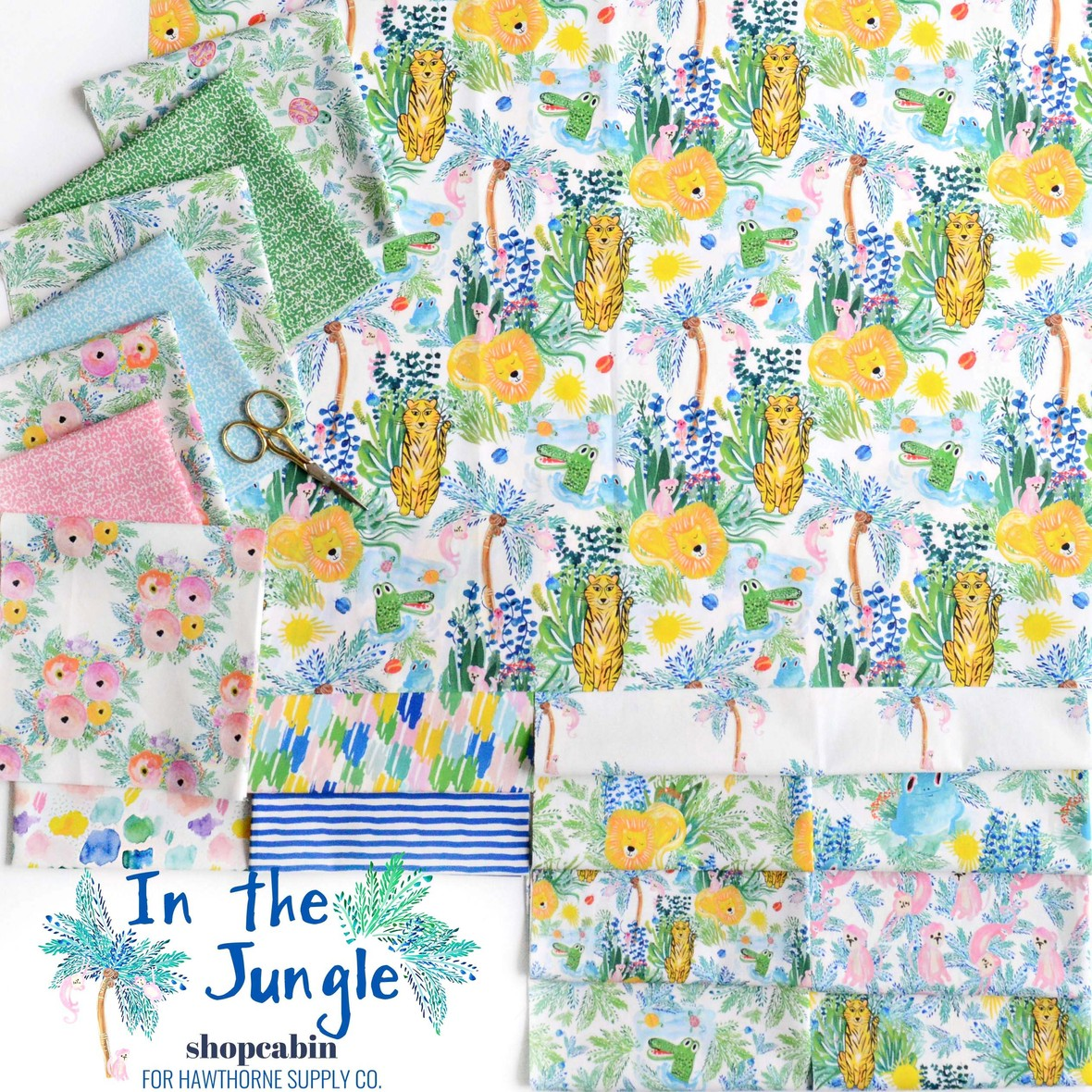 In the Jungle Fabric Poster Shopcabin for Hawthorne Supply Co