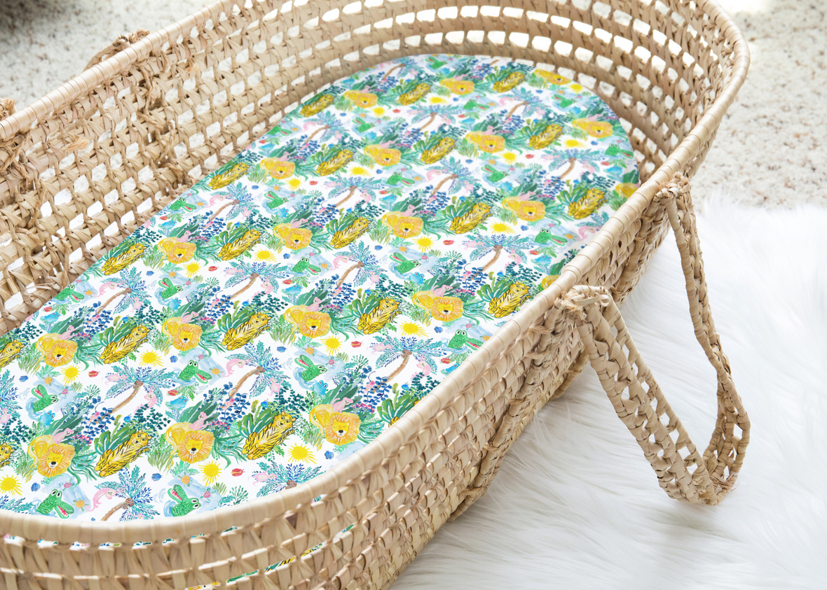 Moses Basket In the Jungle Small