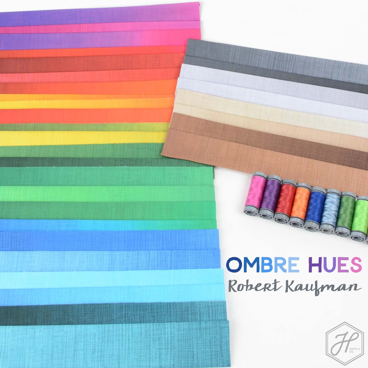 Fresh Ombre Hues from Robert Kaufman at Hawthorne Supply Co