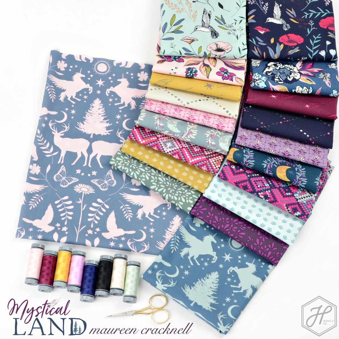 Mystical Land Fabric Poster Mauren Cracknell at Hawthorne Supply Co
