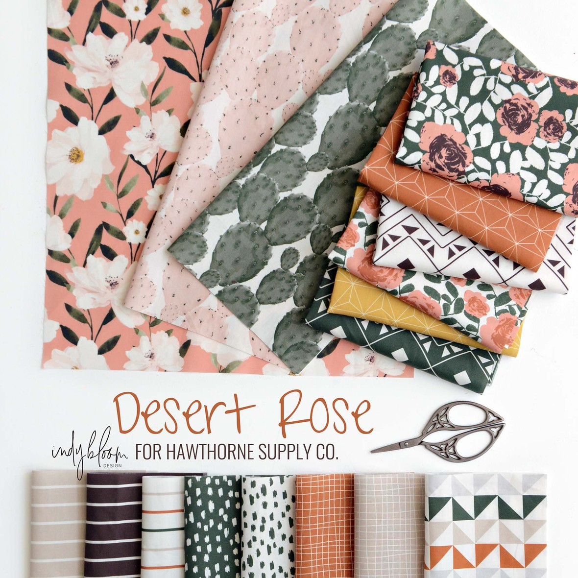 Desert Rose Fabric Indy Bloom for Hawthorne Supply Co.