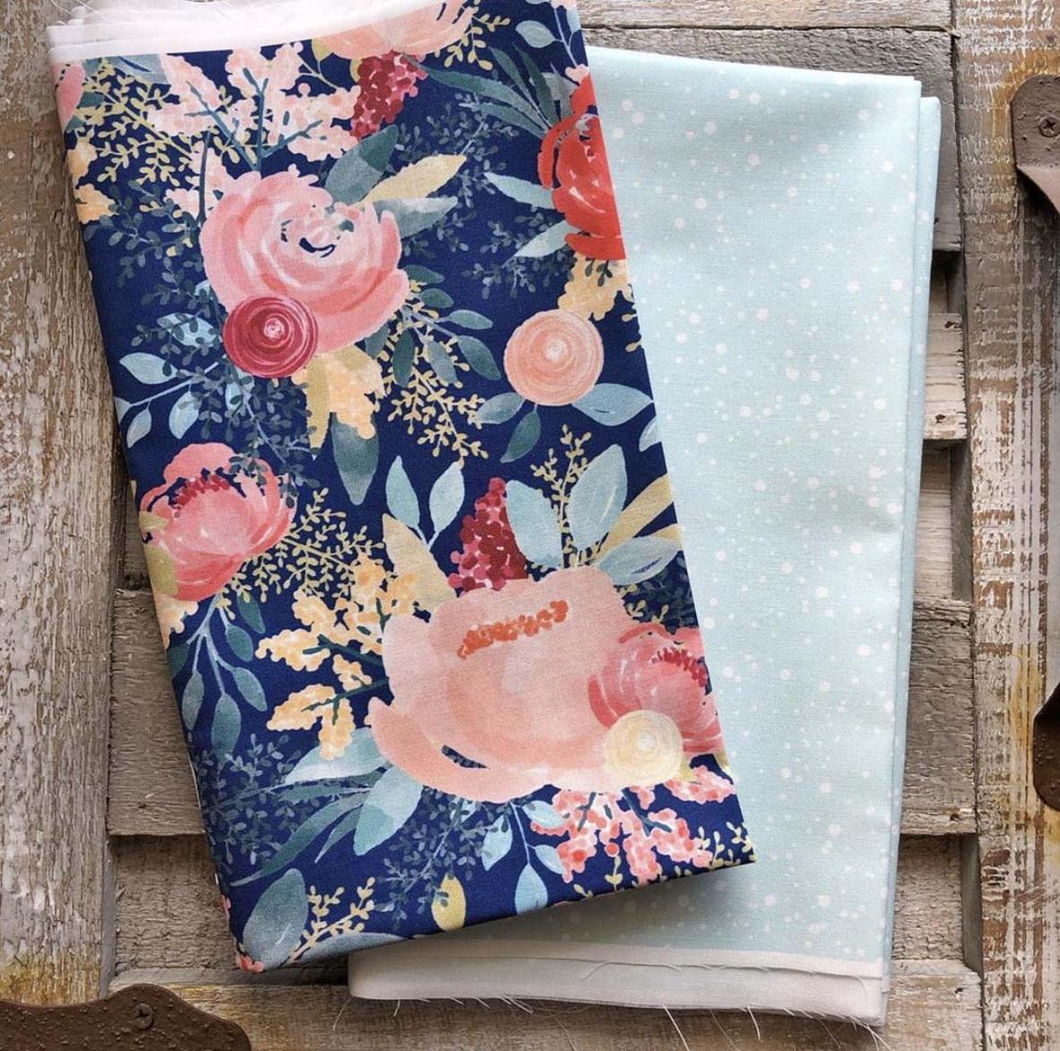 Sunshine Blossoms Fabric Hawthorne Supply Co and Mariah Danielle Design