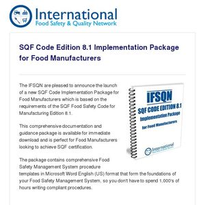 IFSQN launch an SQF Code Edition 8 1 Implementation Package