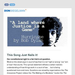 Song for Sunday: Hurricane by Bob Dylan