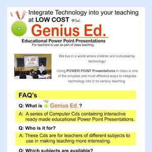 Genius Ed PowerPoint Presentations
