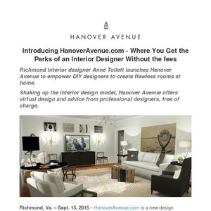 Hanover Avenue Shakes Up Interior Design Model With #FlawlessDesignforAll