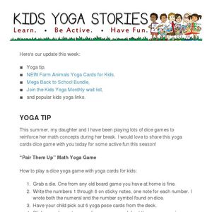 Be a rooster, cow, and sheep - practice Farm Animals Yoga!